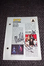 AC/DC Malcolm Young, Phil Rudd & Cliff Williams signed AUTOGRAFI inperson look
