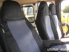 grau-schwarz Stoff Sitzbezüge Set maßgeschneidert für Ford Transit 2001- MK6