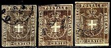 A.S.I. Toscana 1860 n. 19 - 3 pezzi usati (m1772)