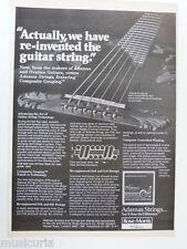 retro magazine advert 1981 ADAMAS guitar strings