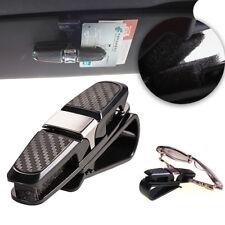 Car Sun Visor Glasses Sunglasses Card Ticket Holder Clip Carbon Fiber Style
