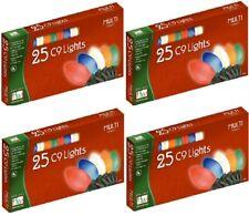 (4) Holiday Wonderland 2924-88 25 Count Multi Ceramic C9 Christmas Light Sets
