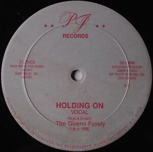 """GIVENS FAMILY: Holding On 12"""" BOOGIE FUNK modern soul PJ RECORD scarce!"""
