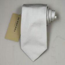 "NEW Burberry BEIGE Check Mans 100% Silk Tie Authentic Italy Made 3.5"" 035098"