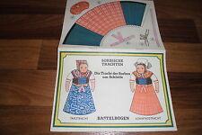 SORBISCHE TRACHTEN -- Tracht der Sorben um Schleife Tanz+Sonntagstracht DDR 1980