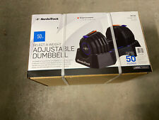 NordicTrack Adjustable Dumbbell Pair/Set with Storage Tray - 50 Pounds