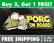 Porg on Board - Star Wars Porg Bumper Sticker, Porg Car Decal, Porg Car Sticker