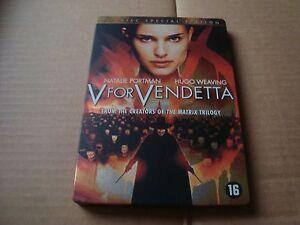 V FOR VENDETTA limited DVD SteelBook Natalie Portman Hugo Weaving Wachowski