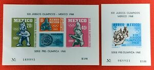 ZAYIX - 1965 Mexico C310a-C311a MNH Olympics souvenir sheets