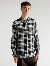 Margaret Howell Oversized Linen Check Shirt Black White, size Small - BNWT £345