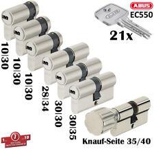 7x Zylinder Abus Schließanlage Wendeschlüssel Gleichschließend 1x Knaufzylinder