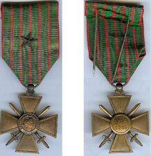 Médaille - Croix de guerre 1914/1918 avec 1 citation d'époque