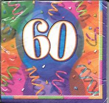 60th Birthday Party Luncheon Large Napkins - Turning 60 - Set of 2
