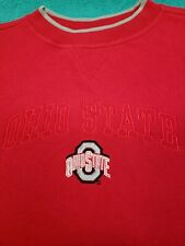 "Vintage Red Oak Sportswear ""Ohio State"" Crewneck Scarlet Long Sleeve Sweatshirt"