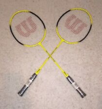 (Brand New) Wilson Matchpoint Badminton Racket Yellow 660 mm (Lot Of 2)