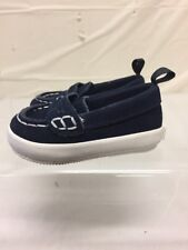 Baby Gap Blue Suede Penny Loafers Sz 3-6M Boat Shoes Toddler