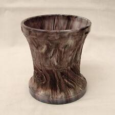 Antique Purple Slag Glass/Malachite Glass  Vase / Celery Vase