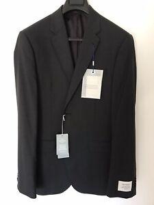 Trenery Men Suit Jacket Super 110s Wool Charcoal New (40)