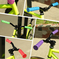 2PCS Rubber Anti-slip Handle Grip Cycling Bike Bicycle MTB Handlebar Grip Black