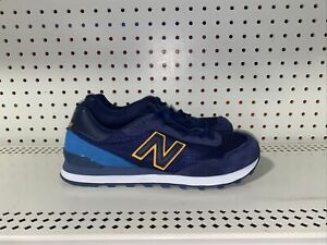 New Balance 515 Classic Mens Suede Athletic Lifestyle Shoes Size 8 Blue Gold