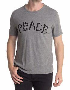 NWT John Varvatos Star USA Gray Peace Bones Graphic T-Shirt Size Medium