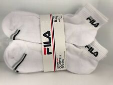 FILA Men's Socks - White Quarter Crew Socks - 6 PACK - $36 MSRP