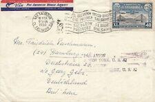 El Salvador 1950: air mail San Salvador to Hamburg, par Avion a New York