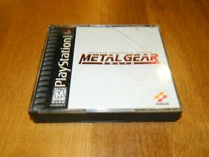 Sony Playstation 1 PS1 Metal Gear Solid Case ONLY *BLACK LABEL*