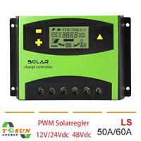 48V PWM Solar Controller Laderegler 50A 100V Solar Panels 12V 24V Batteriesystem