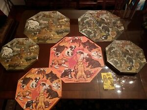 3 Vintage Springbok Okta-Puzzles 1968 & 1971 Incomplete