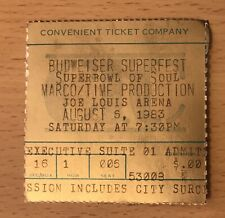 1983 BUDWEISER SUPERFEST SOUL DETROIT CONCERT TICKET STUB GEORGE CLINTON O'JAYS
