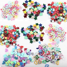 Lot 5000 Mixed Glitter Heart Star Flower Sequins Sticker Decals Nail Art DIY 3mm