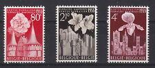 BELGIO 1955 Festa dei Fiori a Gand serie 3 val Unificato Integra 961-3 MNH**