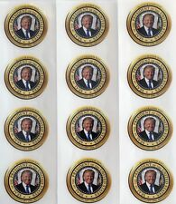 President Donald Trump...Stickers...Decals..On Heavy Duty Vinyl.... Lot of 12