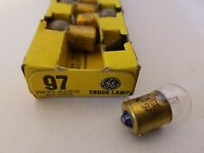 Box of 10 General Electric Ge 97 Ge97 Miniature Automotive Lamps Light Bulbs