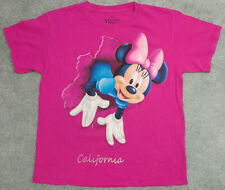 New listing Disney Women's Size M Pink Minnie Mouse California Short Sleeve T-shirt