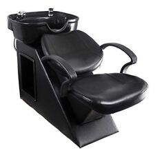 Salon Backwash Chair Shampoo Bowl Sink Unit Station Barber Spa Beauty Equipment