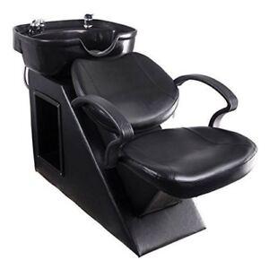 Salon Backwash Chair Shampoo Bowl Sink Unit Station Barber Spa Beauty Equipment