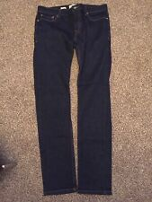 Topman Dark Blue Stretch Skinny Jeans 34R