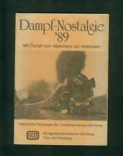 Vapor-nostalgia'89 con vapor del borde de los Alpes para waterkant DB ferrocarril máquinas de vapor trenes
