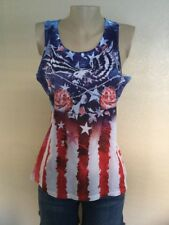 Women American Eagle 4th Of July T Shirt Sleeveless Junior Size XL(16-18)