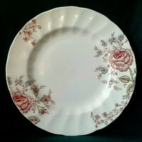 JOHNSON BROTHERS ROSE CHINTZ DINNER PLATE IRONSTONE DINING PLATE PINK ROSES