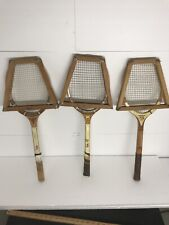 Vintage LOT (3) Wooden Tennis Racket Wilson/Spalding -challenger .