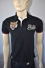 NEW RALPH LAUREN POLO SHIRT TIGER PATCH FOOTBALL/RUGBY CUSTOM FIT Sz SMALL NWT
