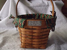 Longaberger 1990 Bee Basket On The Move, With Jingle Liner