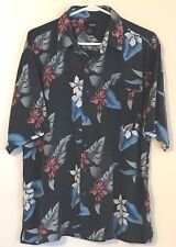 Utopia Silk Hawaiian shirt XL aloha camp beach party washable Casual fun