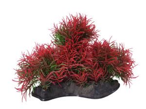 Red and Green Foreground Aquarium Plant, Fish Tank Foliage Decoration Ornament