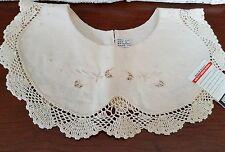 Vintage Lace Collar Victorian Linen and Crochet Doily Lot 3 Lace Doilies