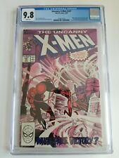 Uncanny X-Men 247 CGC WHITE 9.8 Marvel 1989 Master Mind Nimrod