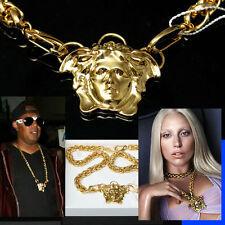 $1,575 GIANNI VERSACE Double Chain MEDUSA NECKLACE w/ Box & Certificate